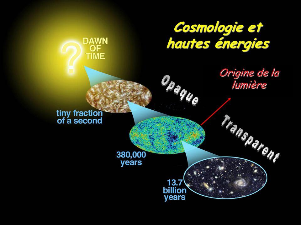 Cosmologie et hautes énergies