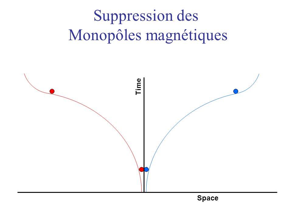Suppression des Monopôles magnétiques