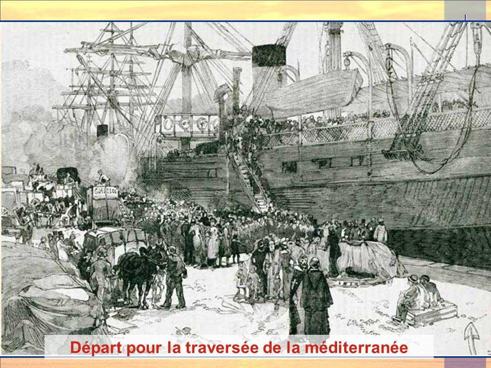 Départ pour la traversée de la méditerranée