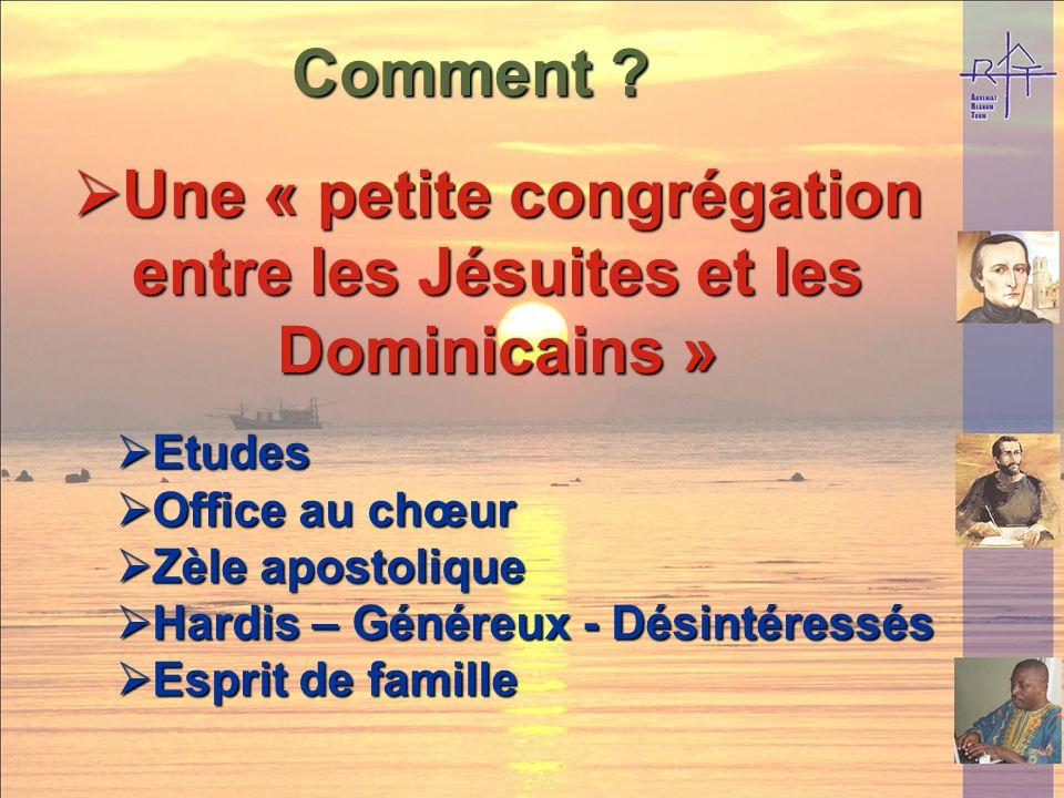 Une « petite congrégation entre les Jésuites et les Dominicains »