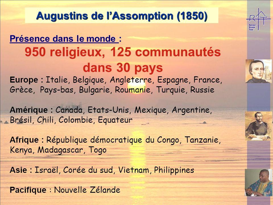 950 religieux, 125 communautés dans 30 pays