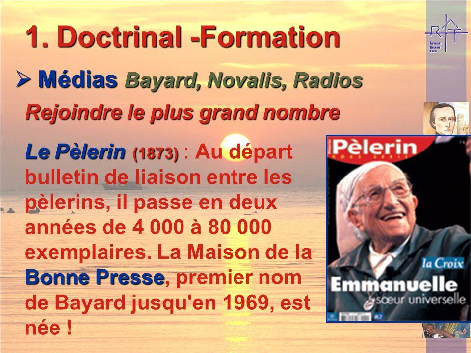 Doctrinal -Formation Médias Bayard, Novalis, Radios