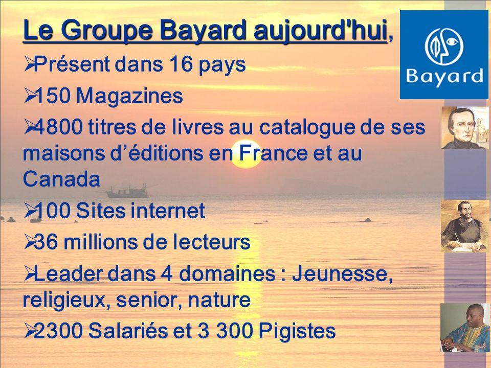 Le Groupe Bayard aujourd hui,