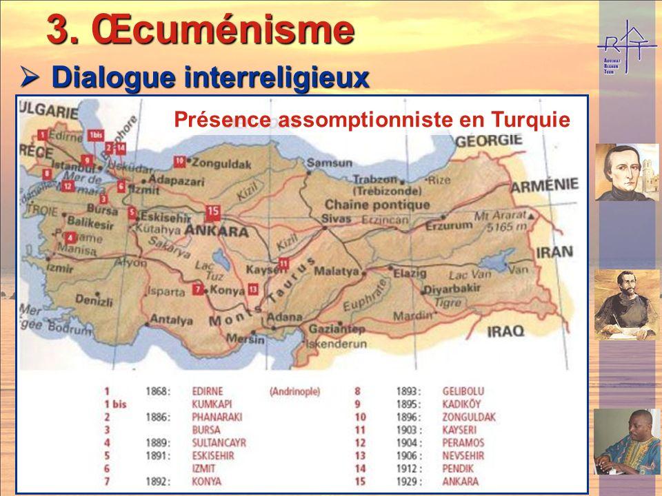 3. Œcuménisme Dialogue interreligieux