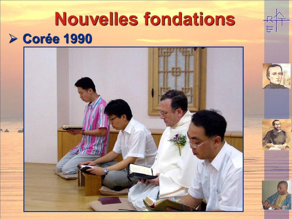 Nouvelles fondations Corée 1990