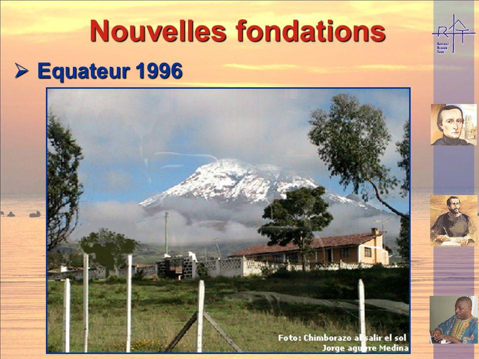 Nouvelles fondations Equateur 1996
