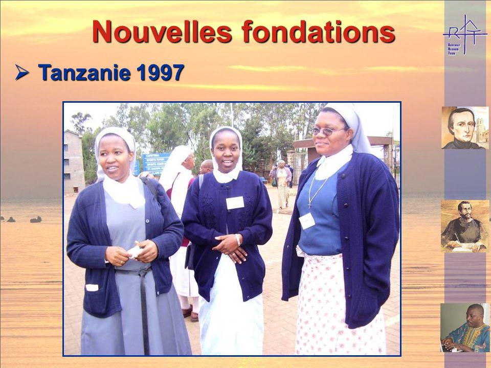 Nouvelles fondations Tanzanie 1997