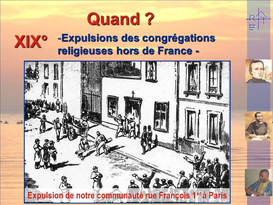 Expulsion de notre communauté rue François 1er à Paris