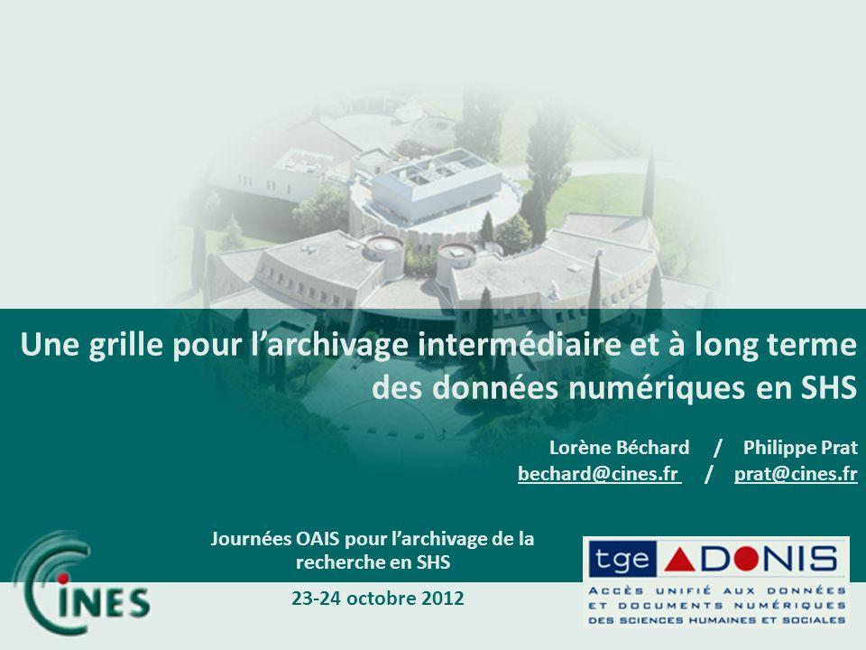 Journées OAIS pour l'archivage de la recherche en SHS