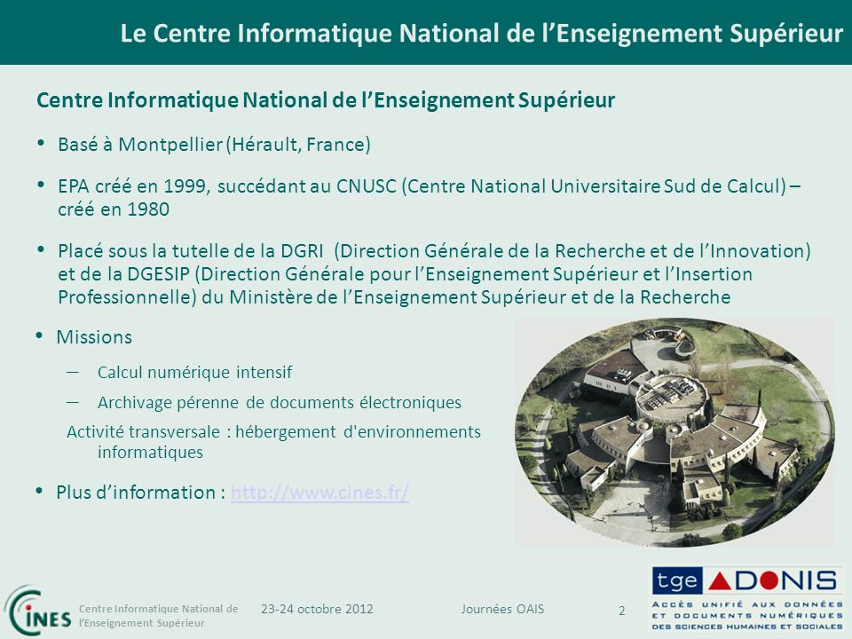Le Centre Informatique National de l'Enseignement Supérieur