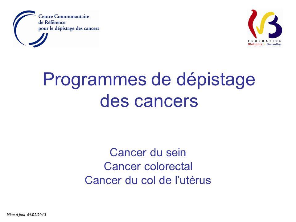 Programmes de dépistage des cancers