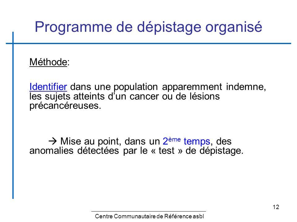 Programme de dépistage organisé