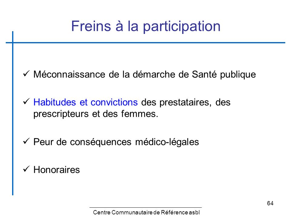 Freins à la participation
