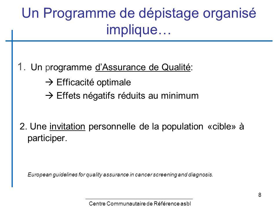 Un Programme de dépistage organisé implique…