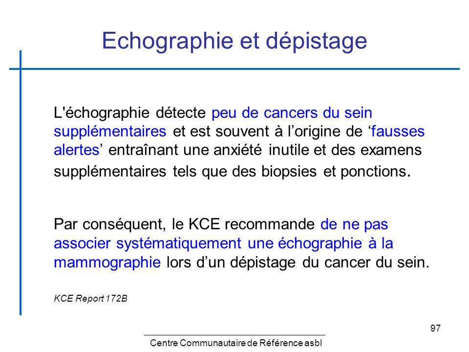 Echographie et dépistage