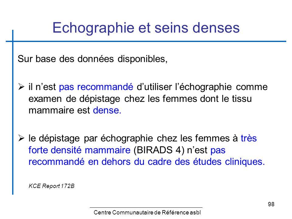 Echographie et seins denses