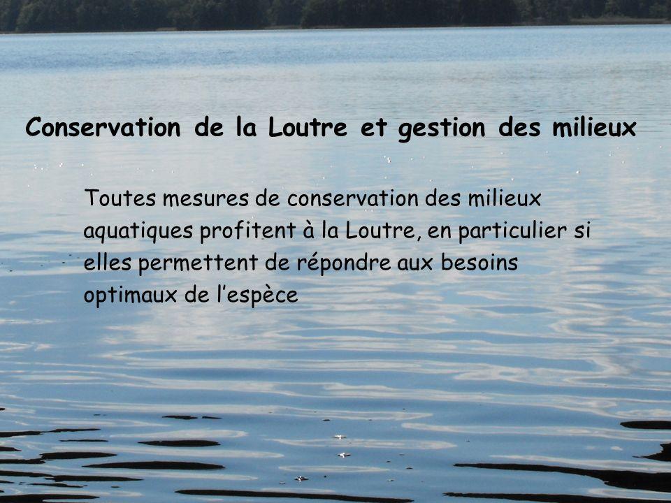 Conservation de la Loutre et gestion des milieux
