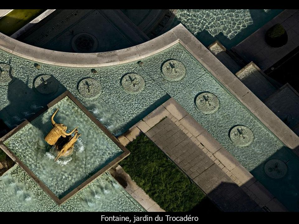 Fontaine, jardin du Trocadéro