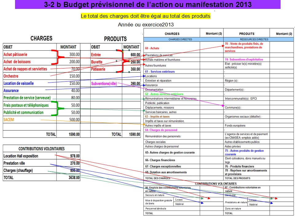 3-2 b Budget prévisionnel de l'action ou manifestation 2013
