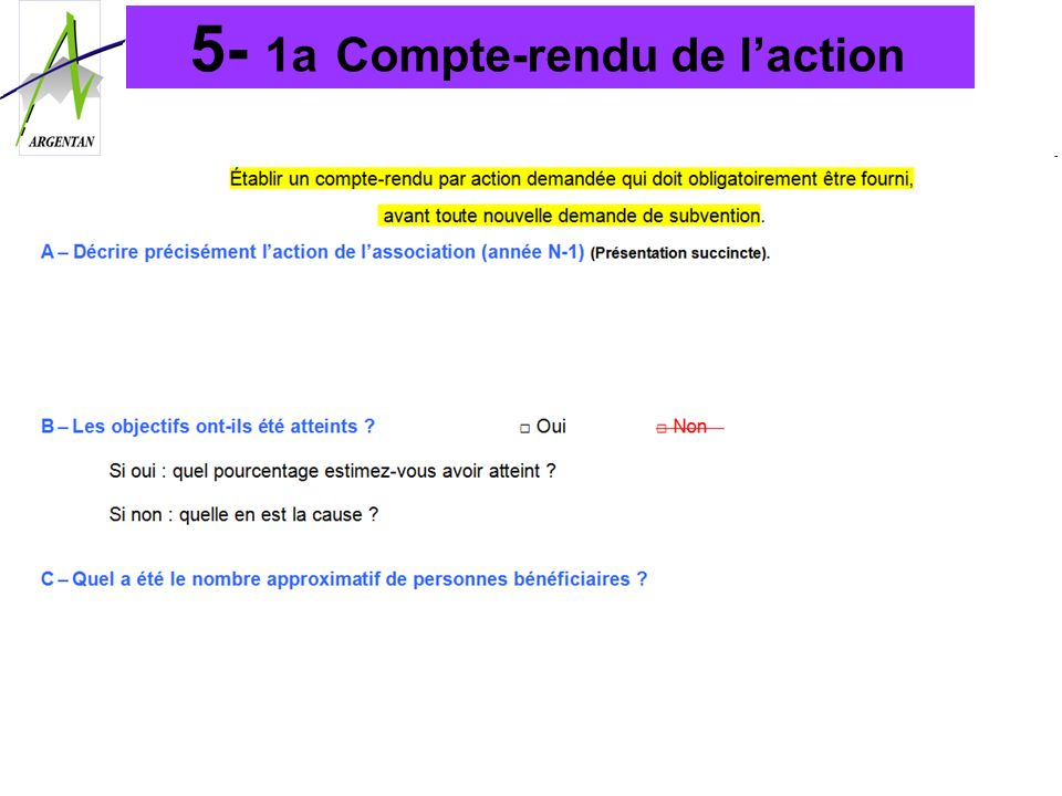 5- 1a Compte-rendu de l'action