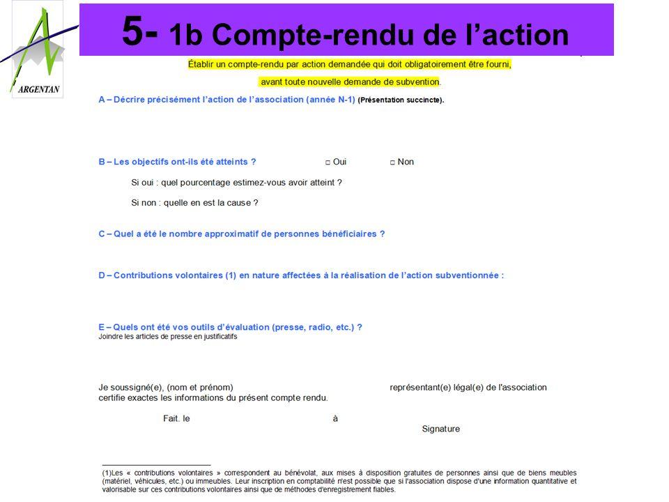 5- 1b Compte-rendu de l'action