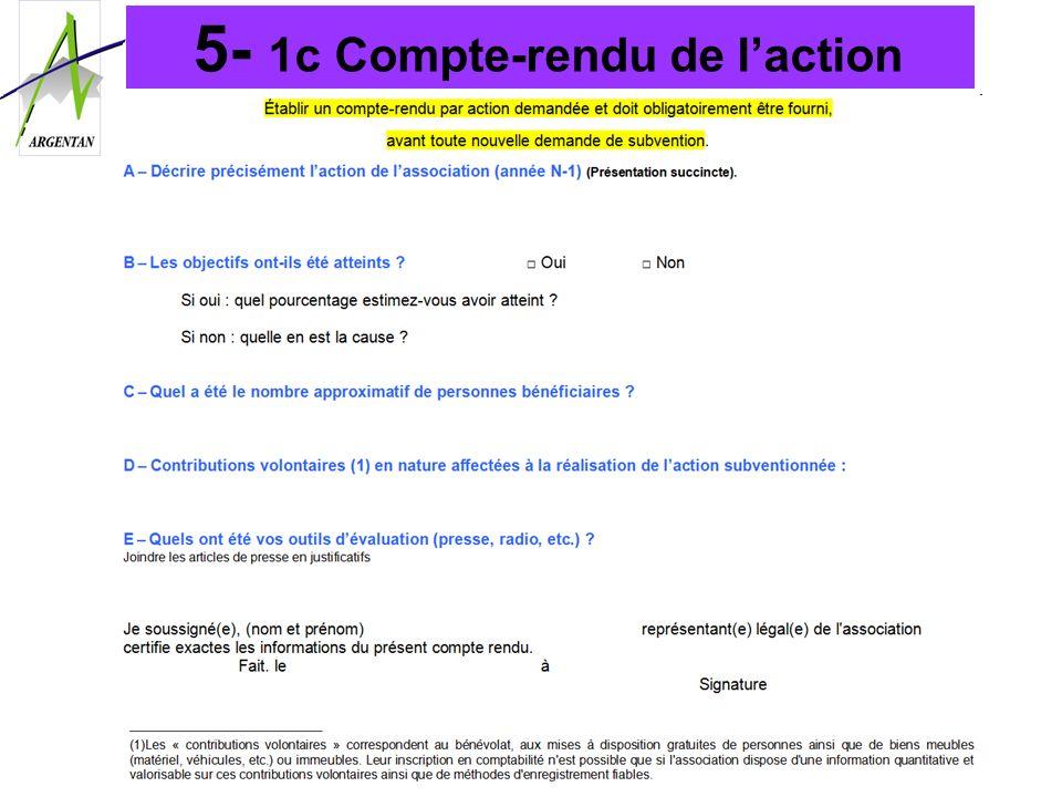 5- 1c Compte-rendu de l'action