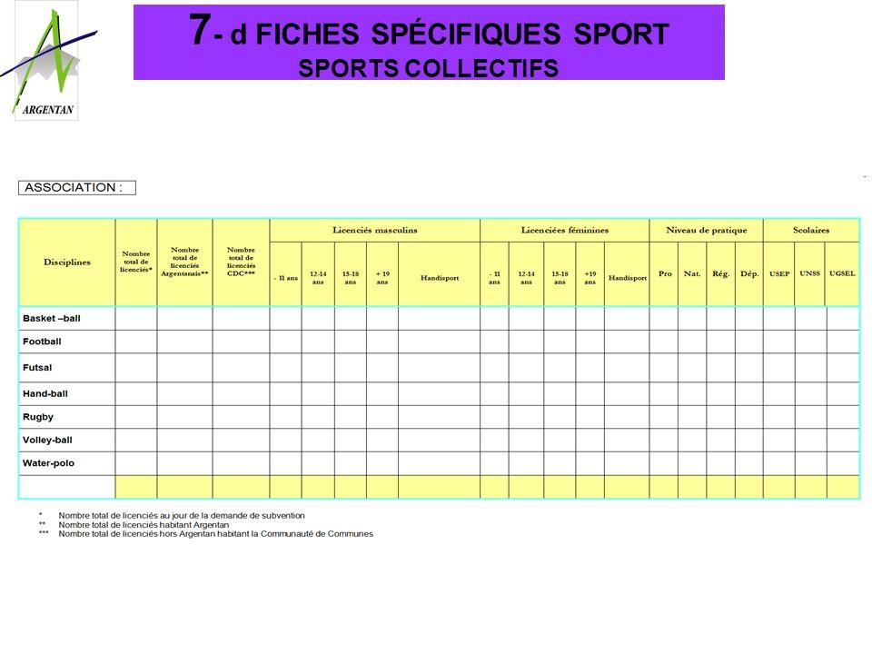 7- d FICHES SPÉCIFIQUES SPORT SPORTS COLLECTIFS