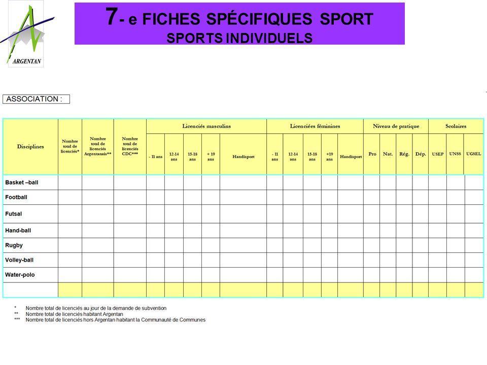 7- e FICHES SPÉCIFIQUES SPORT SPORTS INDIVIDUELS