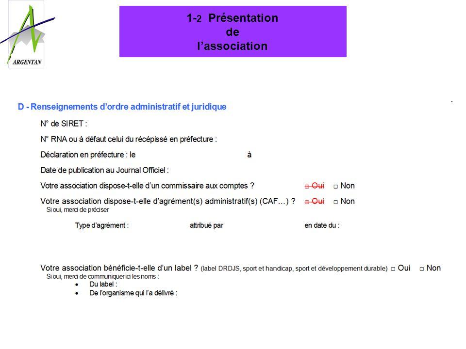 1-2 Présentation de l'association
