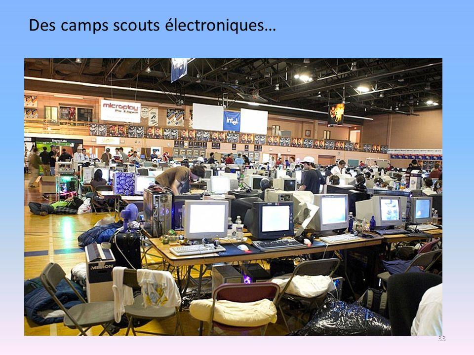 Des camps scouts électroniques…