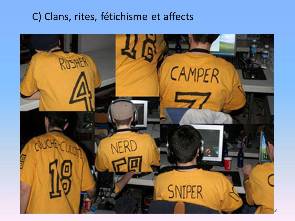 C) Clans, rites, fétichisme et affects