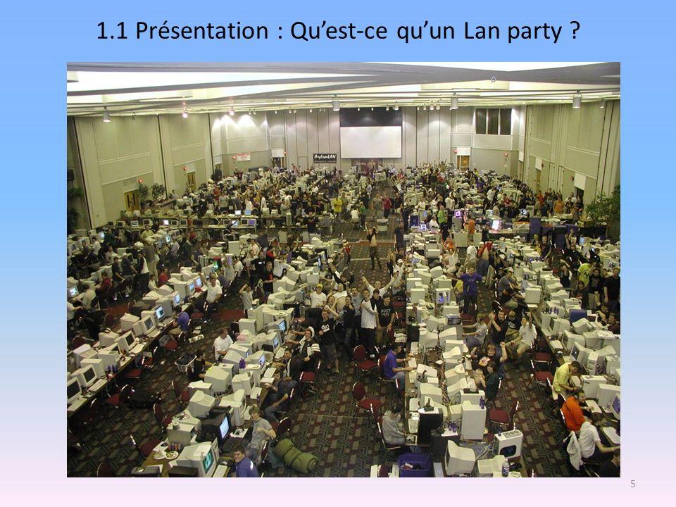 1.1 Présentation : Qu'est-ce qu'un Lan party