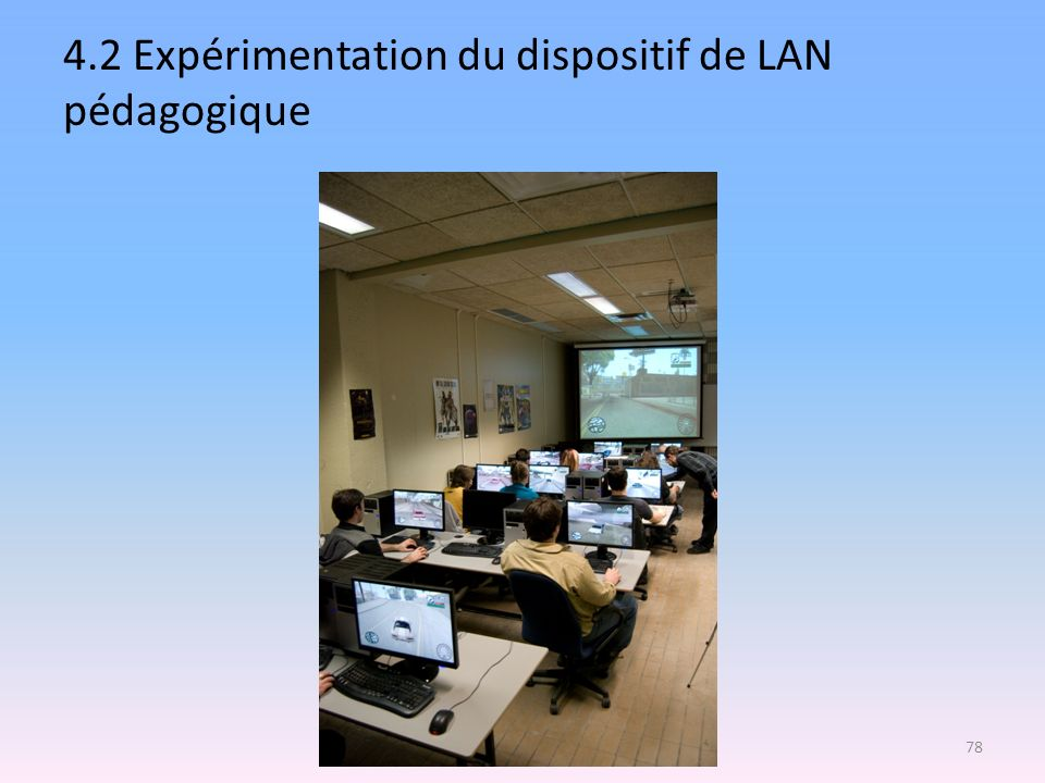 4.2 Expérimentation du dispositif de LAN pédagogique