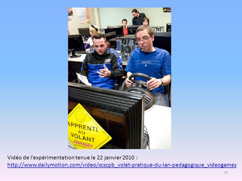 Vidéo de l'expérimentation tenue le 22 janvier 2010 :