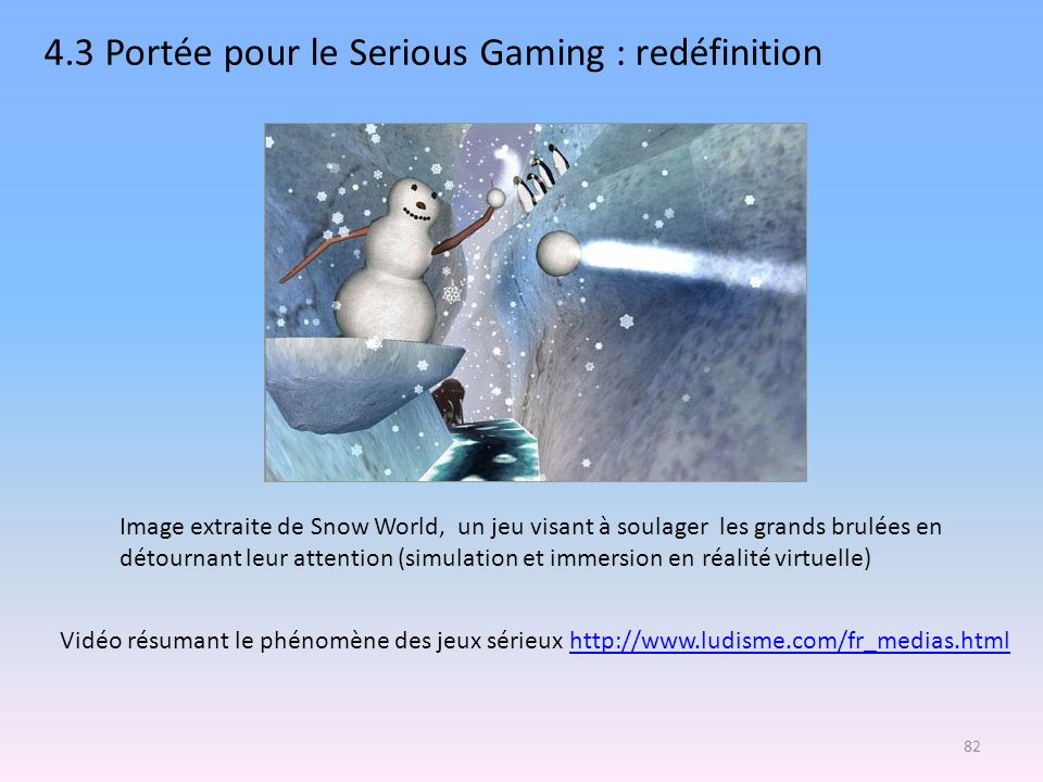 4.3 Portée pour le Serious Gaming : redéfinition