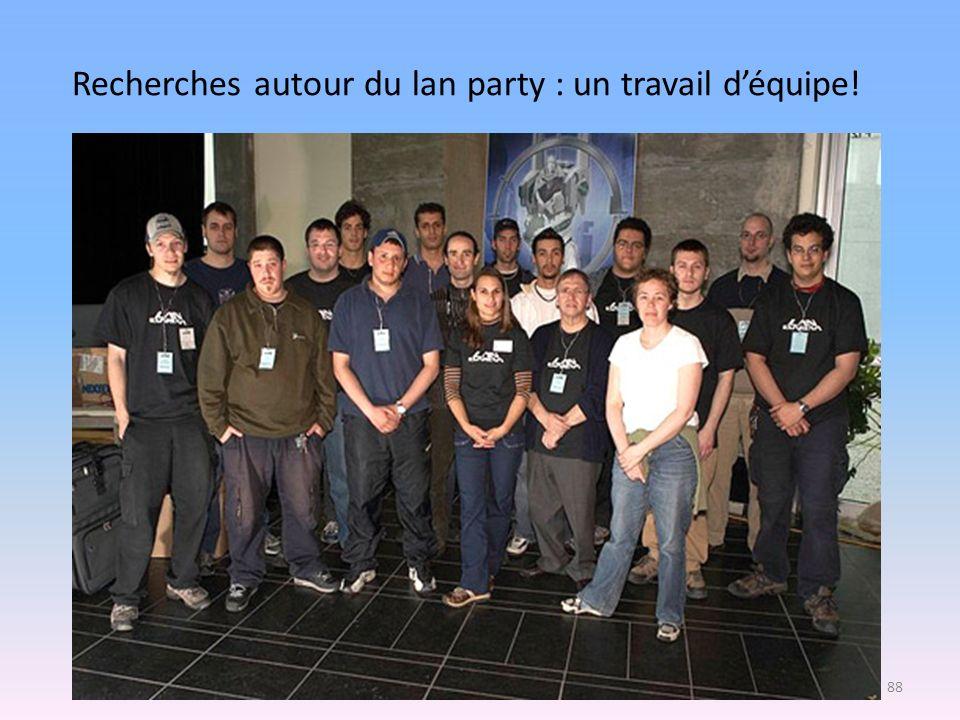 Recherches autour du lan party : un travail d'équipe!