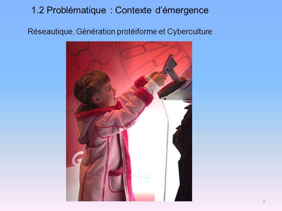 1.2 Problématique : Contexte d'émergence Réseautique, Génération protéiforme et Cyberculture