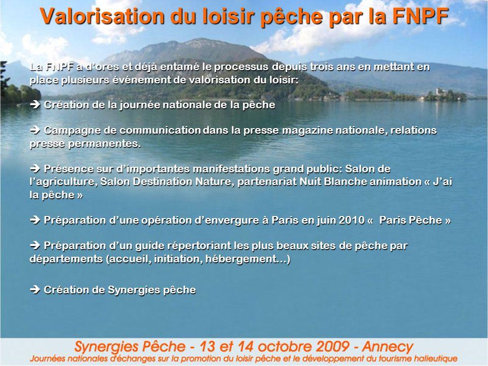 Valorisation du loisir pêche par la FNPF