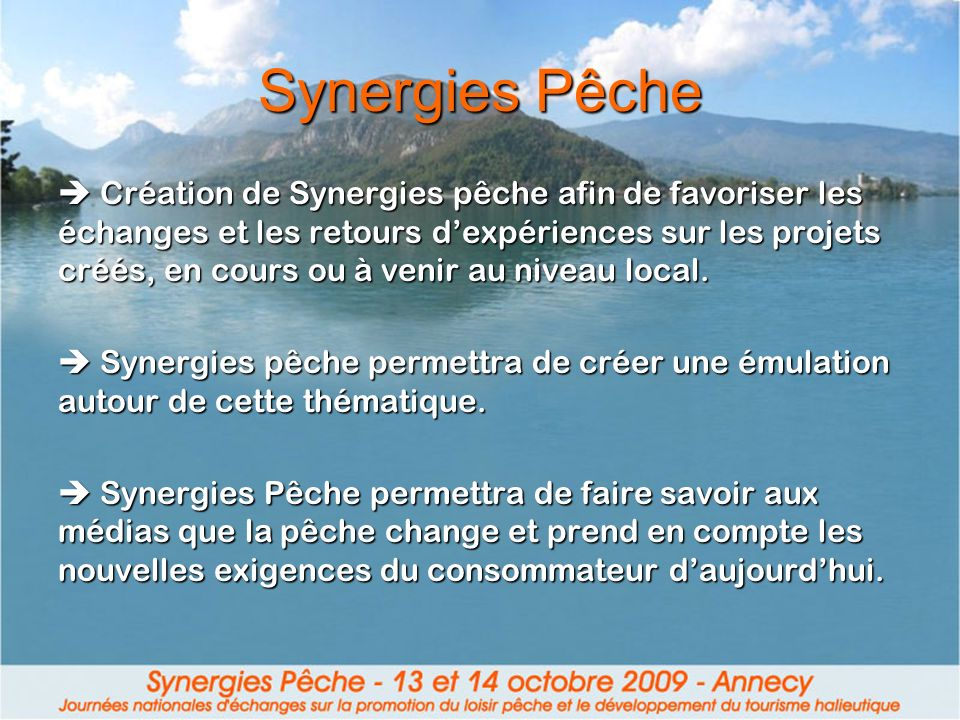 Synergies Pêche