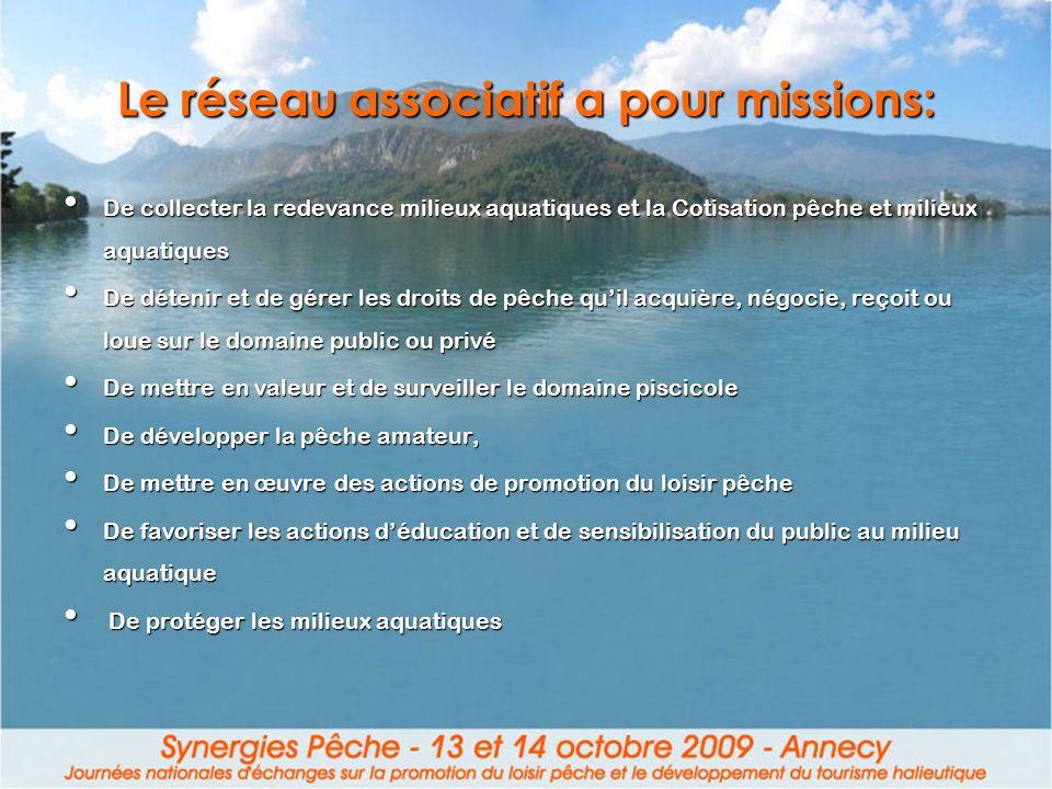 Le réseau associatif a pour missions: