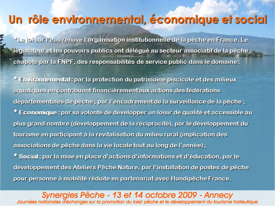 Un rôle environnemental, économique et social