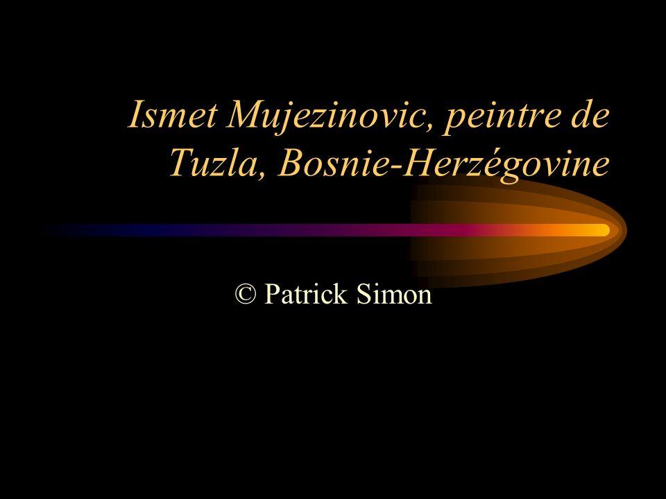 Ismet Mujezinovic, peintre de Tuzla, Bosnie-Herzégovine