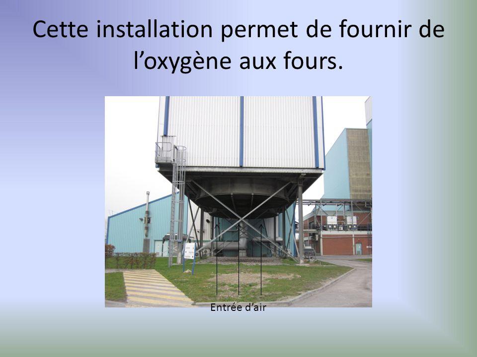 Cette installation permet de fournir de l'oxygène aux fours.