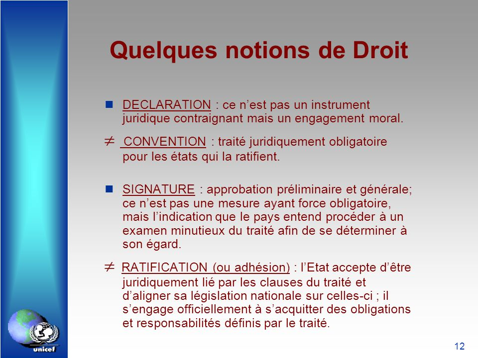 Quelques notions de Droit