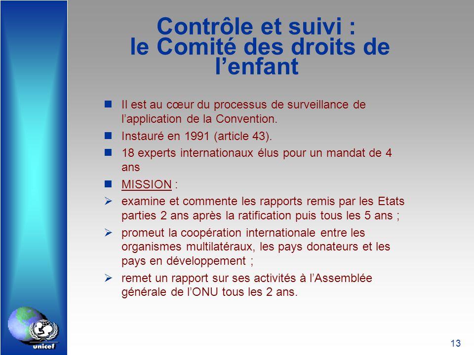 Contrôle et suivi : le Comité des droits de l'enfant