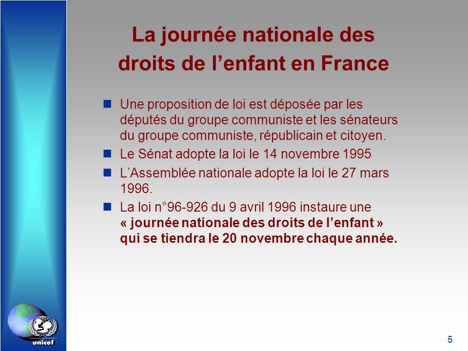 La journée nationale des droits de l'enfant en France