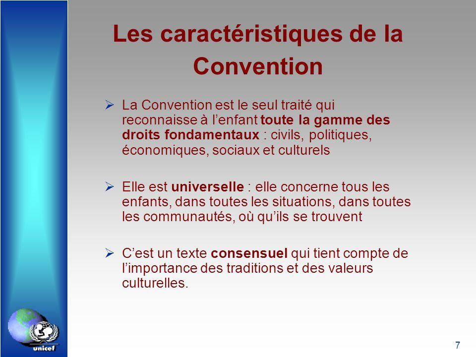 Les caractéristiques de la Convention