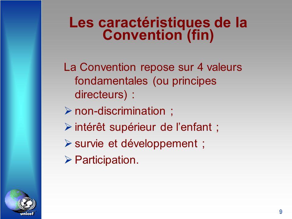 Les caractéristiques de la Convention (fin)