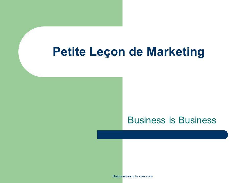 Petite Leçon de Marketing