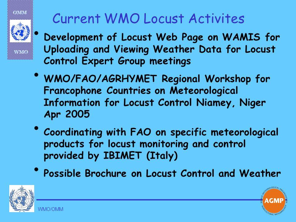 Current WMO Locust Activites